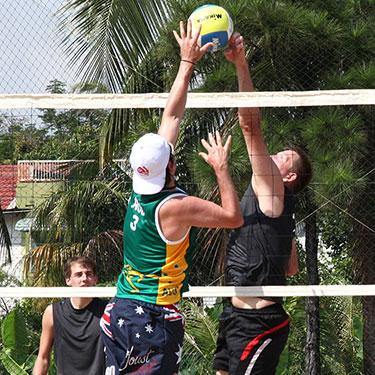 Standing Beach Volleyball